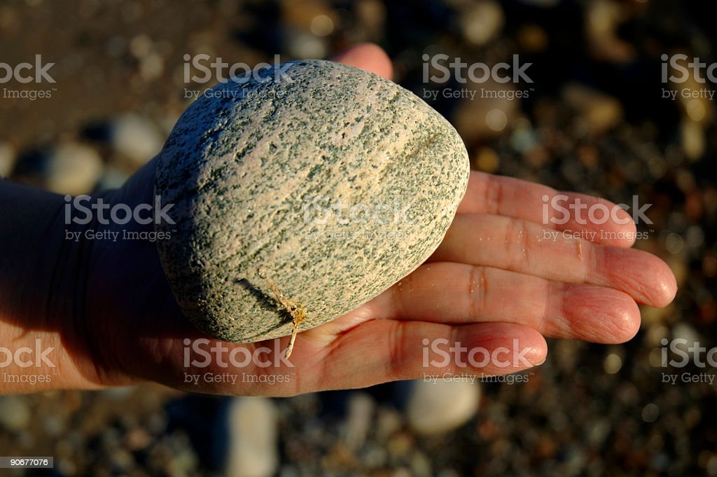 Rock In Hand Open royalty-free stock photo