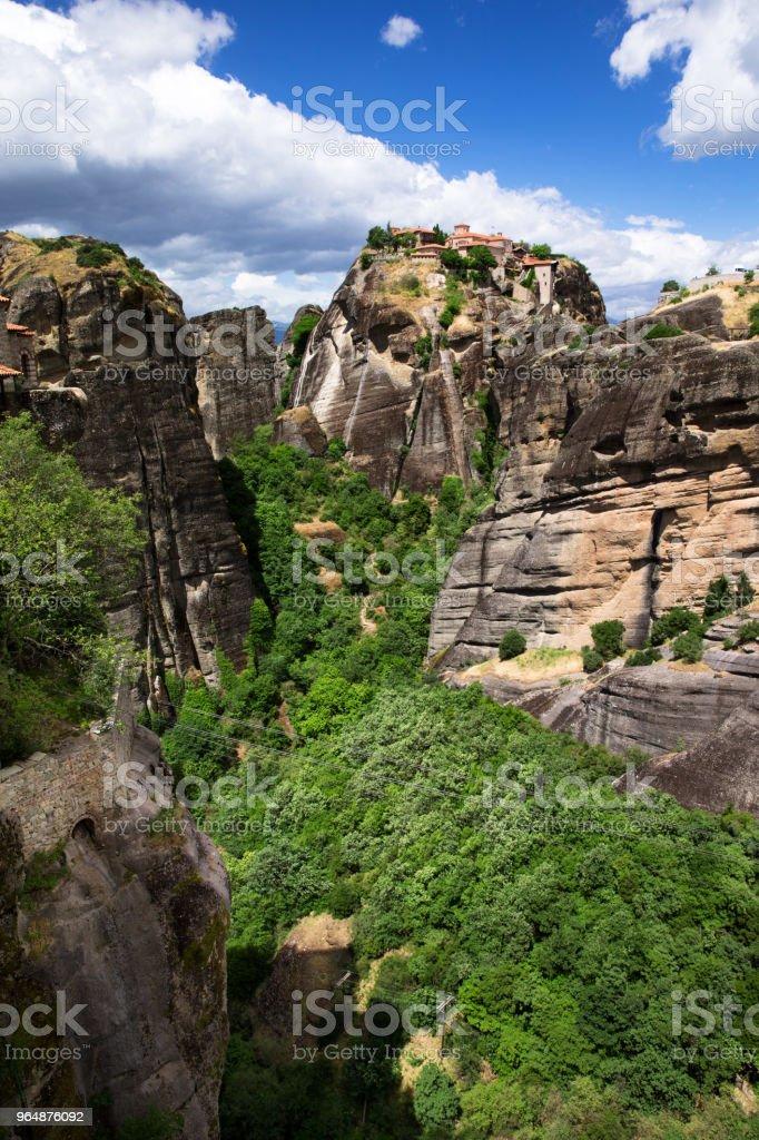 rock in Meteora royalty-free stock photo