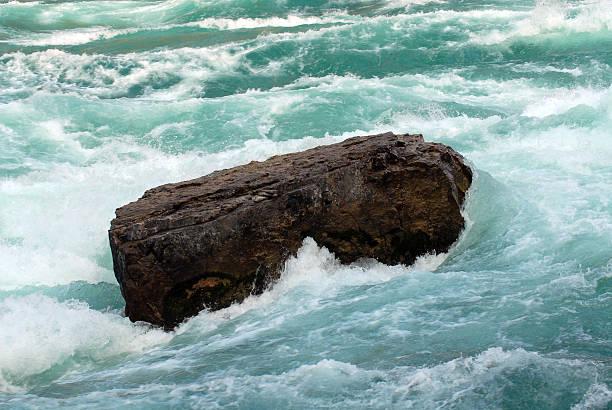 Rock in Rapids stock photo