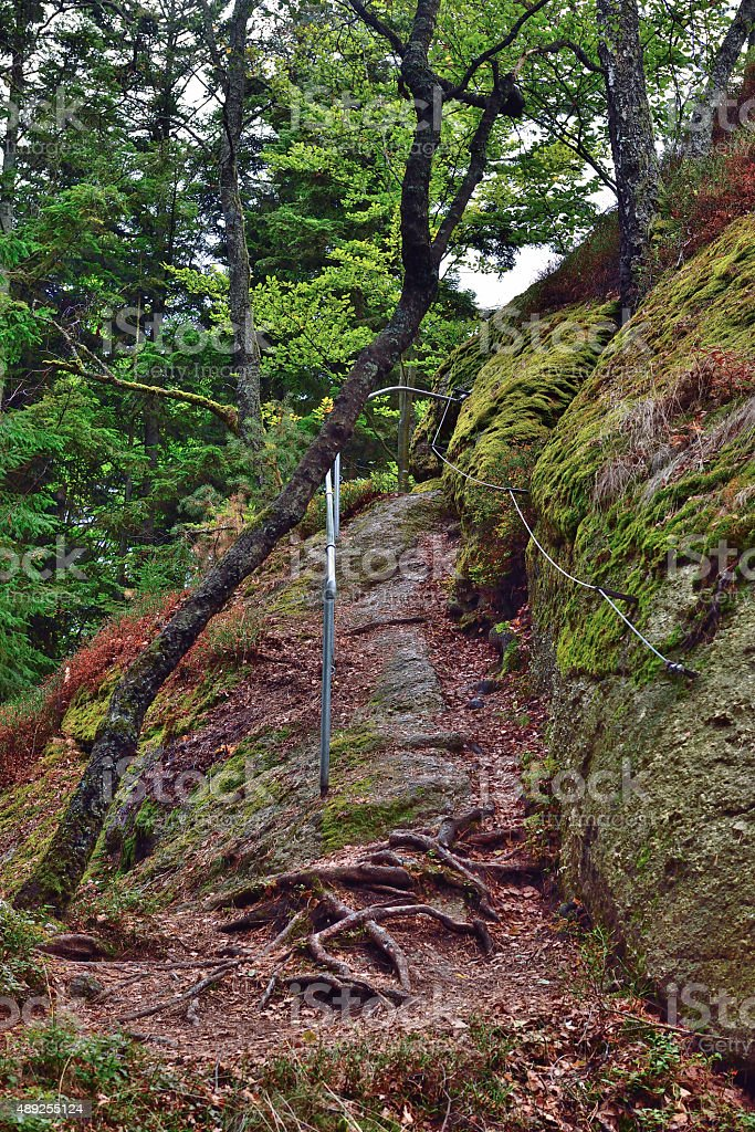 Rock in Upper Austria stock photo