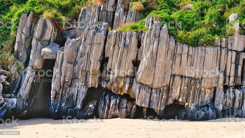 Rock islands in Halong Bay, Vietnam, Southeast Asia stock photo