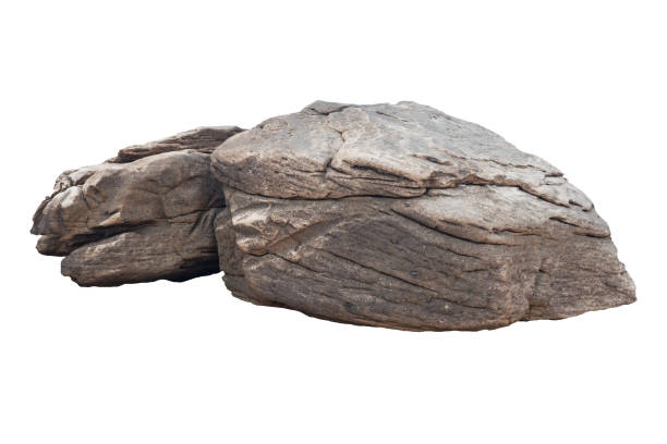 Rock isolated on white background Boulder - Rock, Rock - Object, Stone - Object, Cut Out, Horizontal rock object stock pictures, royalty-free photos & images
