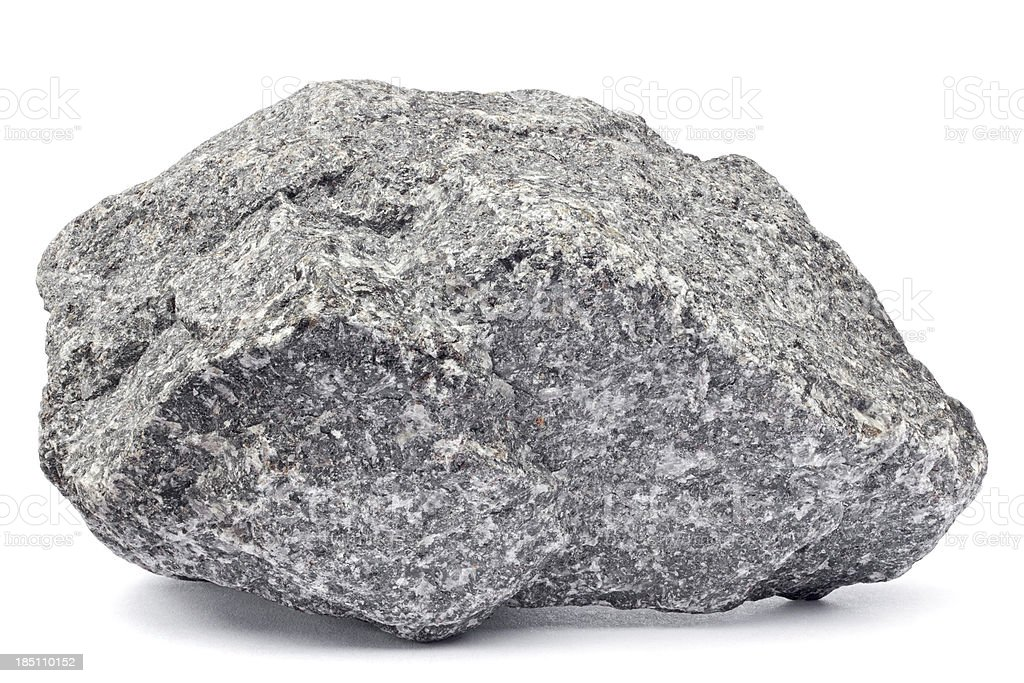 Rock isolated on white stock photo