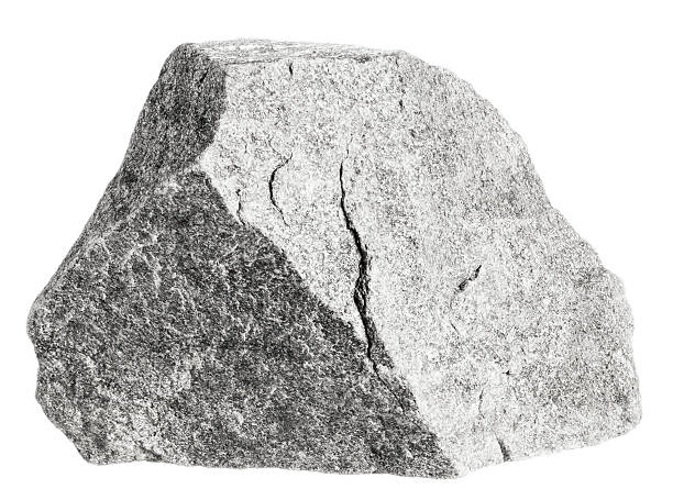 Rock isolated on white Grey colored quartzite rock isolated on white. Focus is front to back. rock object stock pictures, royalty-free photos & images