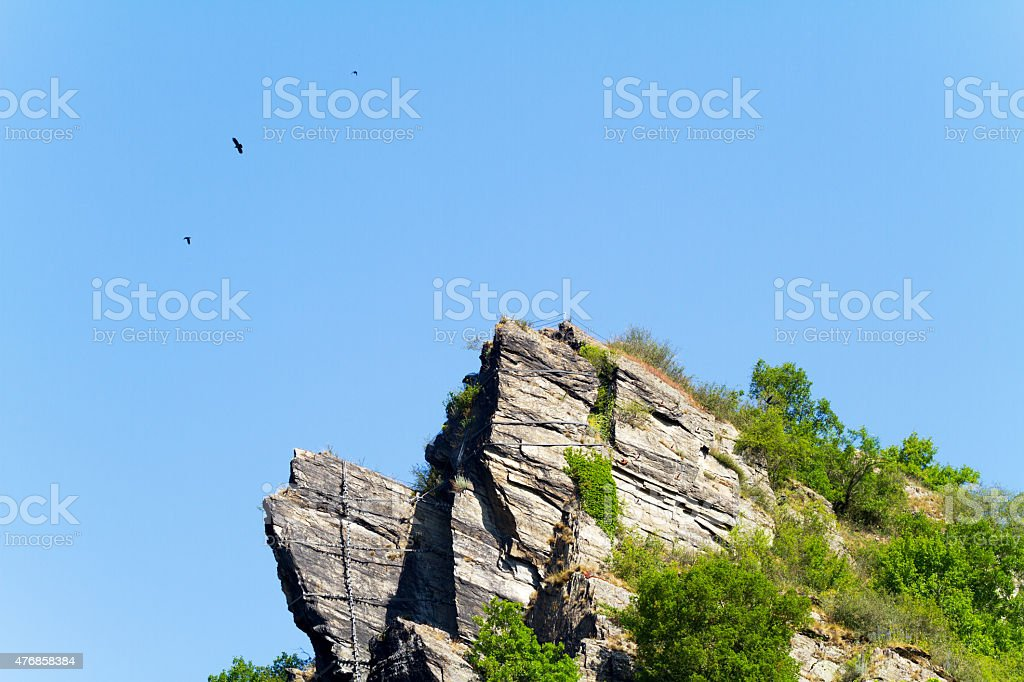 Rock Loreley in summer stock photo