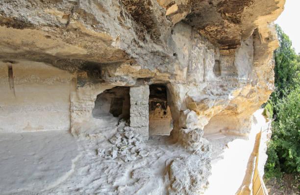 ALADZA rock monastery, Bulgaria stock photo