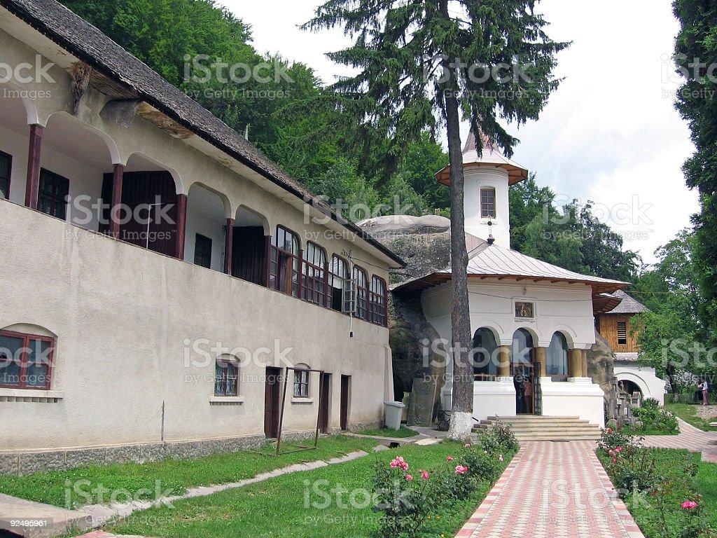 Rock monastery royalty-free stock photo