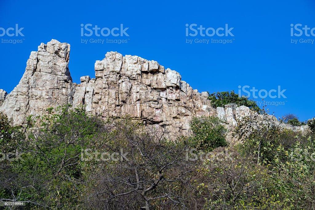 Rock Mountain. stock photo