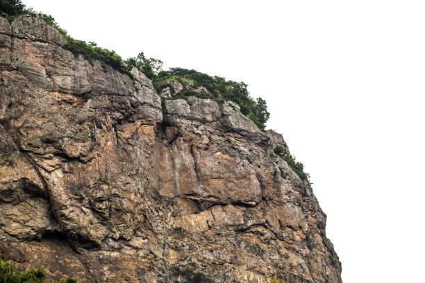 Rock mountain with white background stock photo