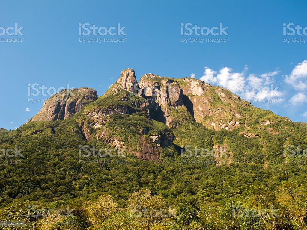 Rock mountains on southern Brazil stock photo