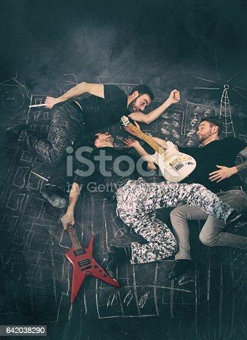 istock Rock Musicians having fun 642038290