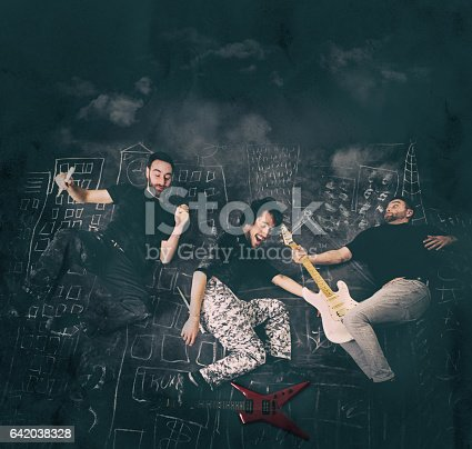 istock Rock Musicians having fun 642038328