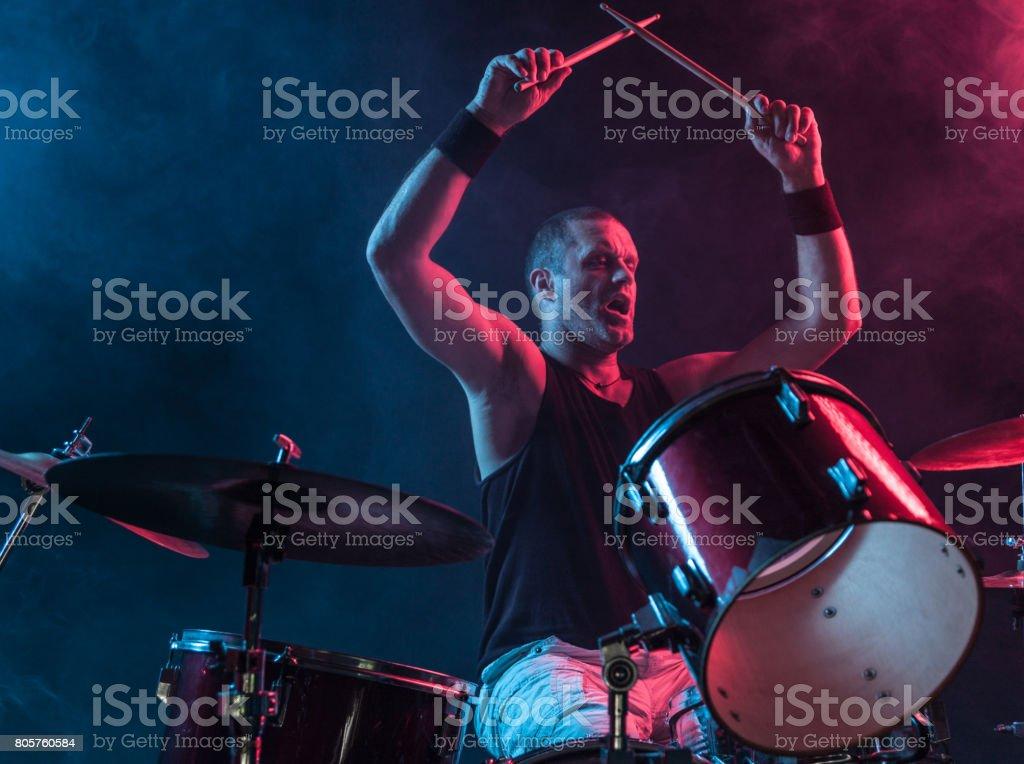 Rock N Roll Baterista - foto de acervo