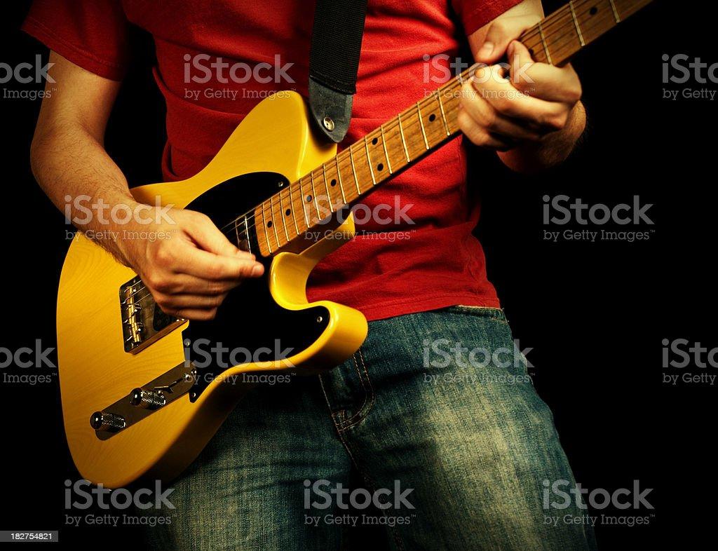 rock 'n' roll guitar royalty-free stock photo