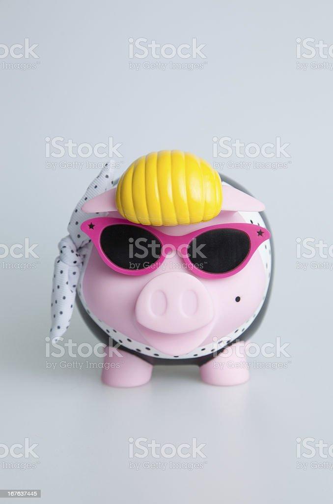 Rock n Roll Piggy bank royalty-free stock photo