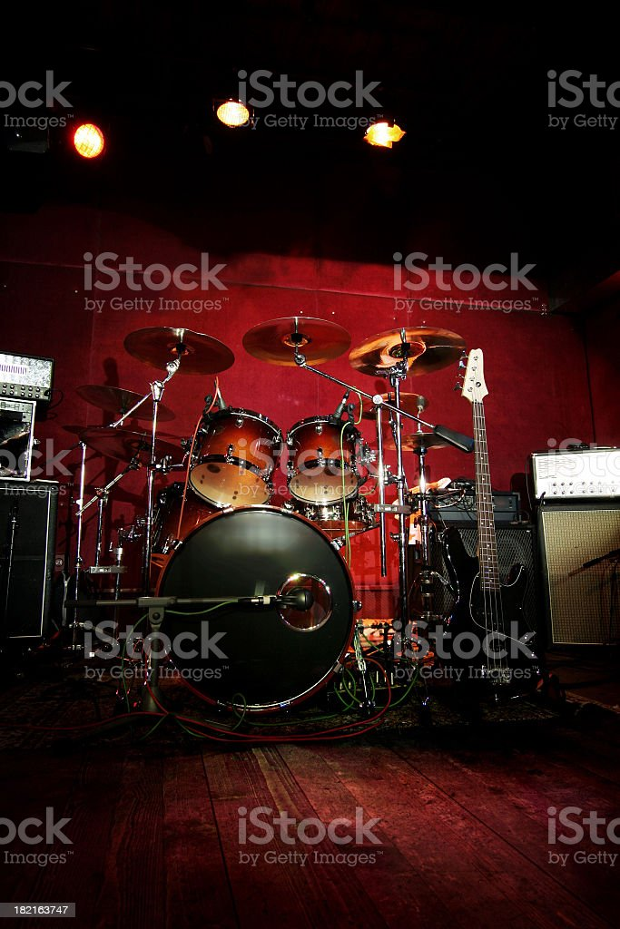 Rock n roll stage royalty-free stock photo