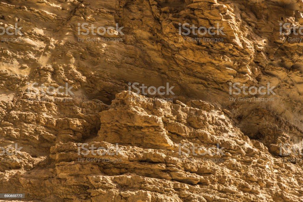 Beautiful Rock Object in Judean Desert near the Dead Sea ,Ein...