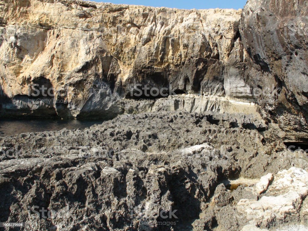 Rock Object View In Gozo Malta Europe