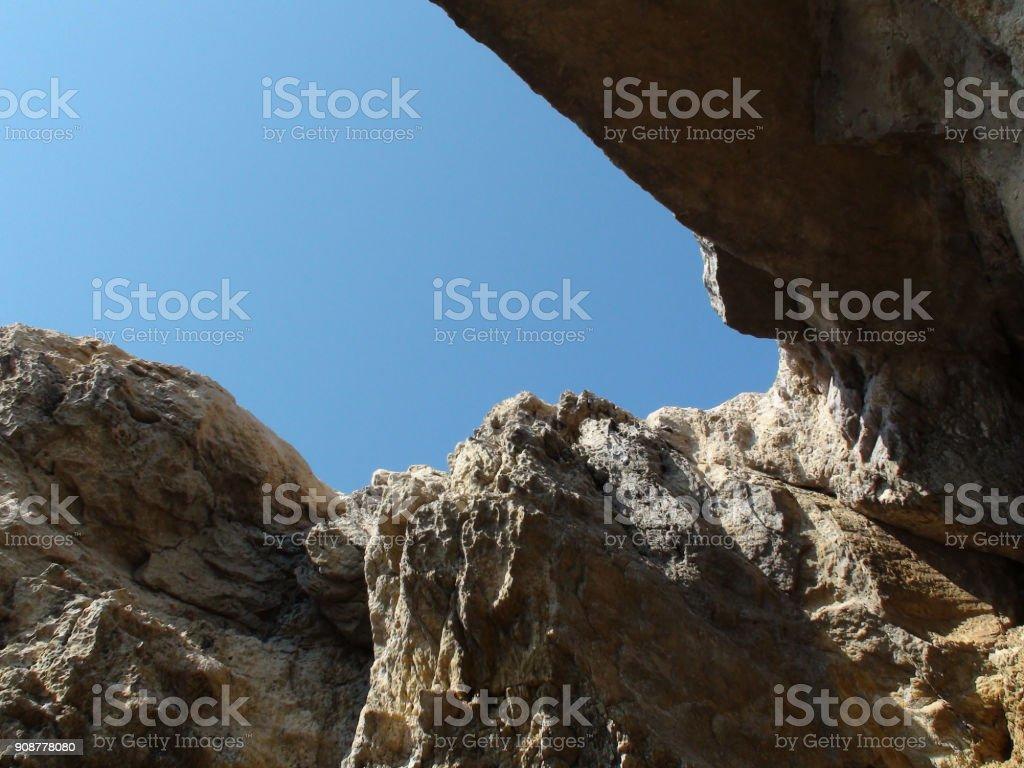 Rock Objects At Mediterranean Sea In Gozo Malta Europe