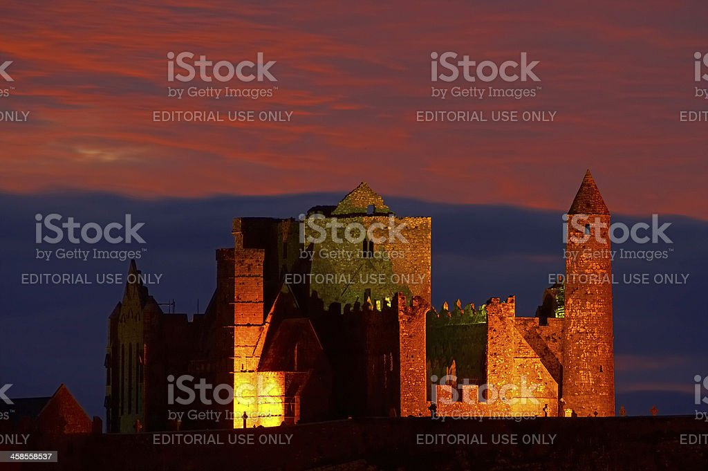 Rock of Cashel at sunset - Ireland stock photo