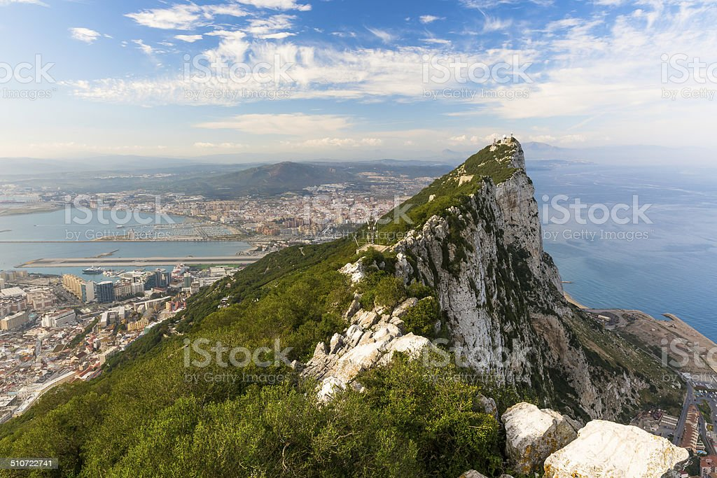 Rock of Gibraltar stock photo