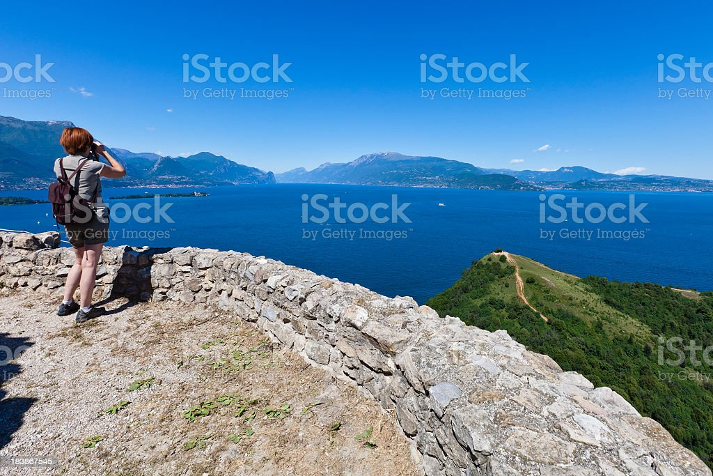 Rock of Manerba, Lake Garda royalty-free stock photo