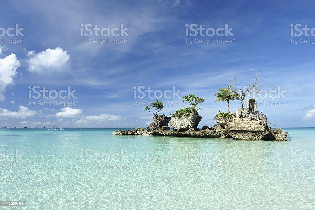 Rock on a beach stock photo