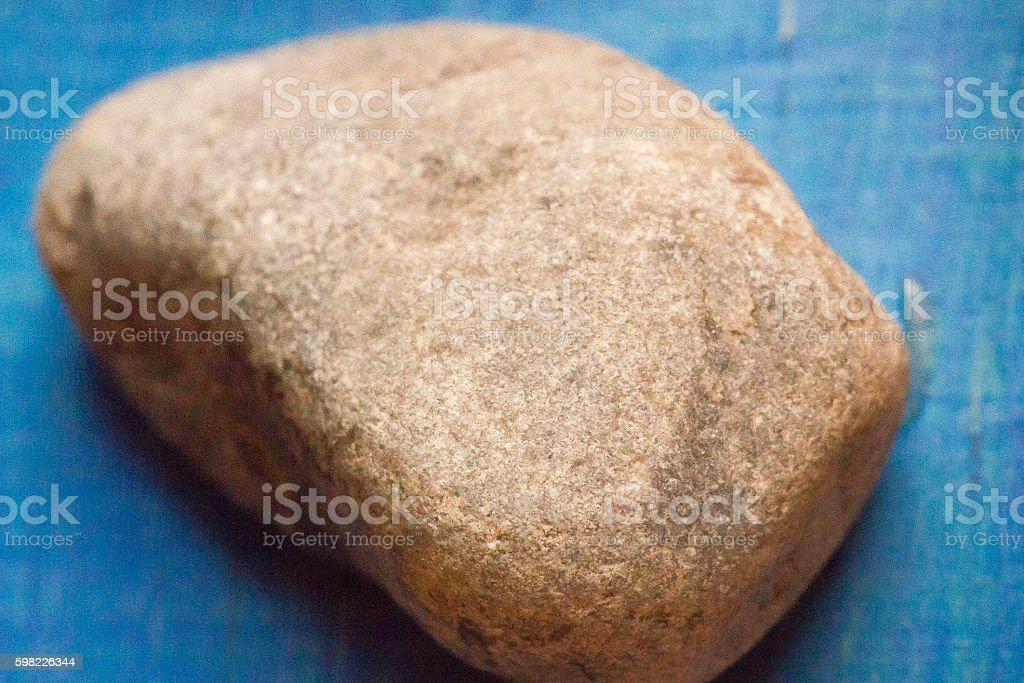 Rock on blue background foto royalty-free