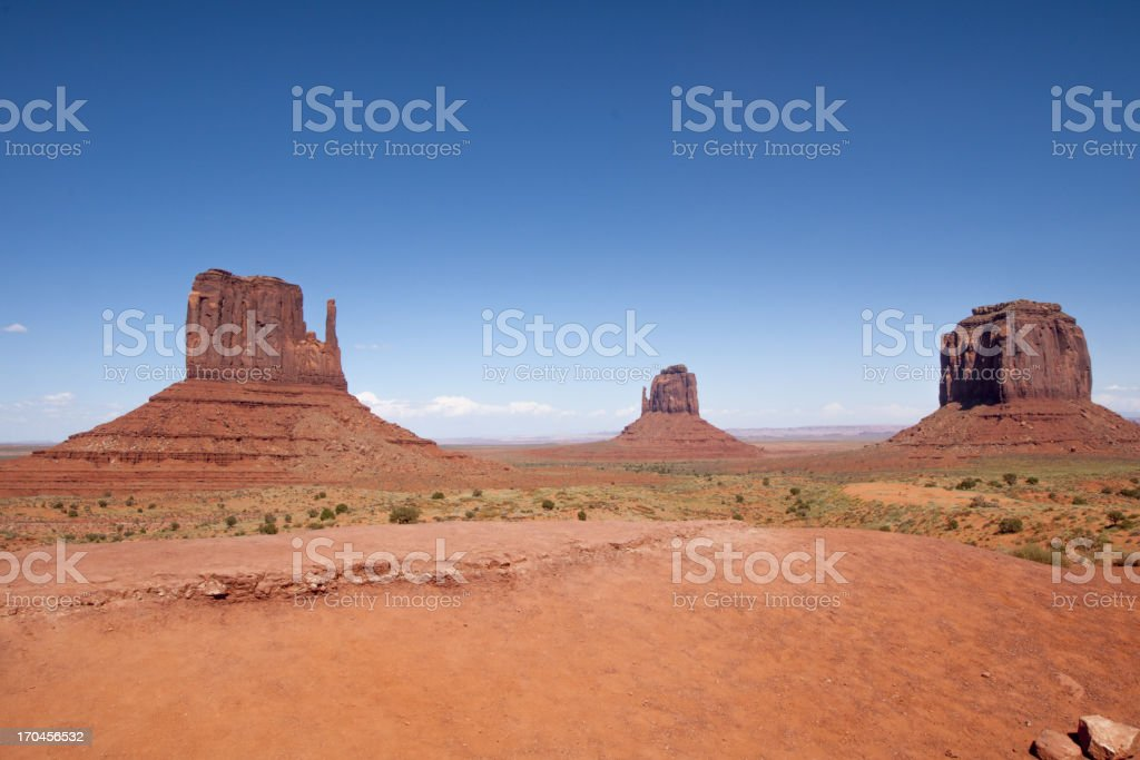 Rock on Monument Valley royalty-free stock photo