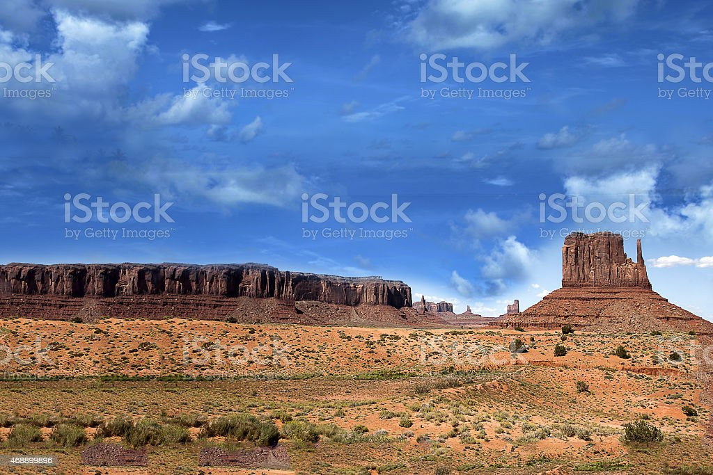 Rock on Monument Valley stock photo
