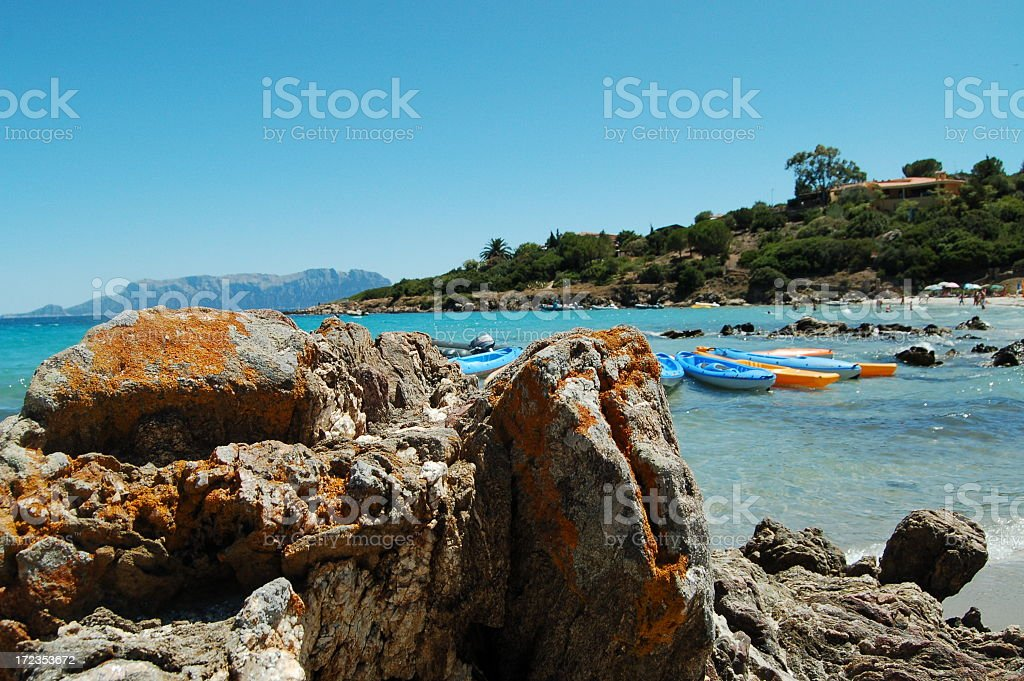 Rock on sand royalty-free stock photo