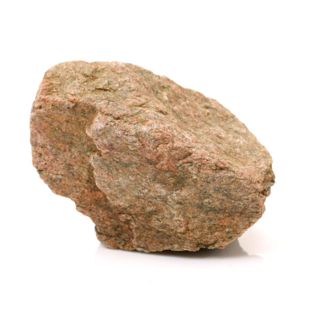 rock on white background - boulder rock stock pictures, royalty-free photos & images