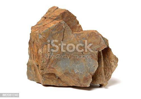 istock Rock on white background 882081240