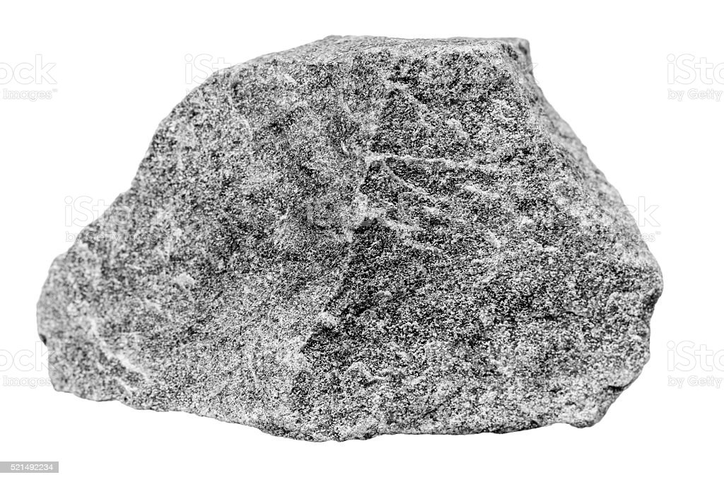 Rock, on white stock photo
