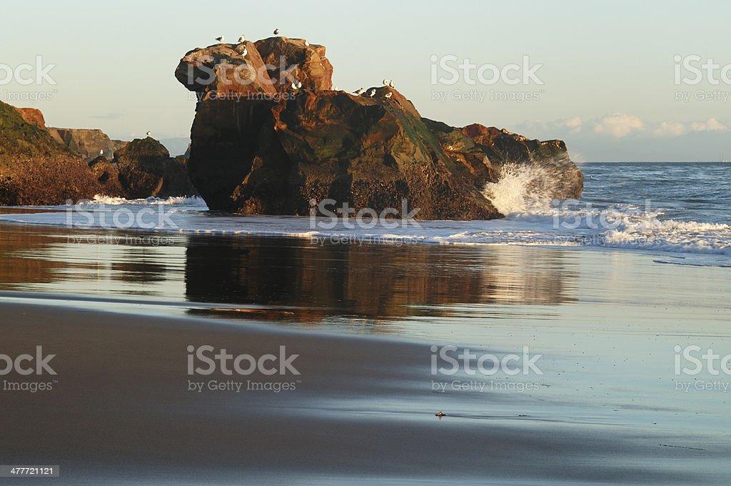 Rock Outcropping Along California Coast royalty-free stock photo