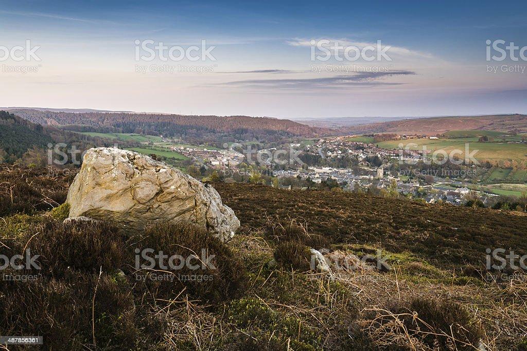 Rock over Rothbury stock photo