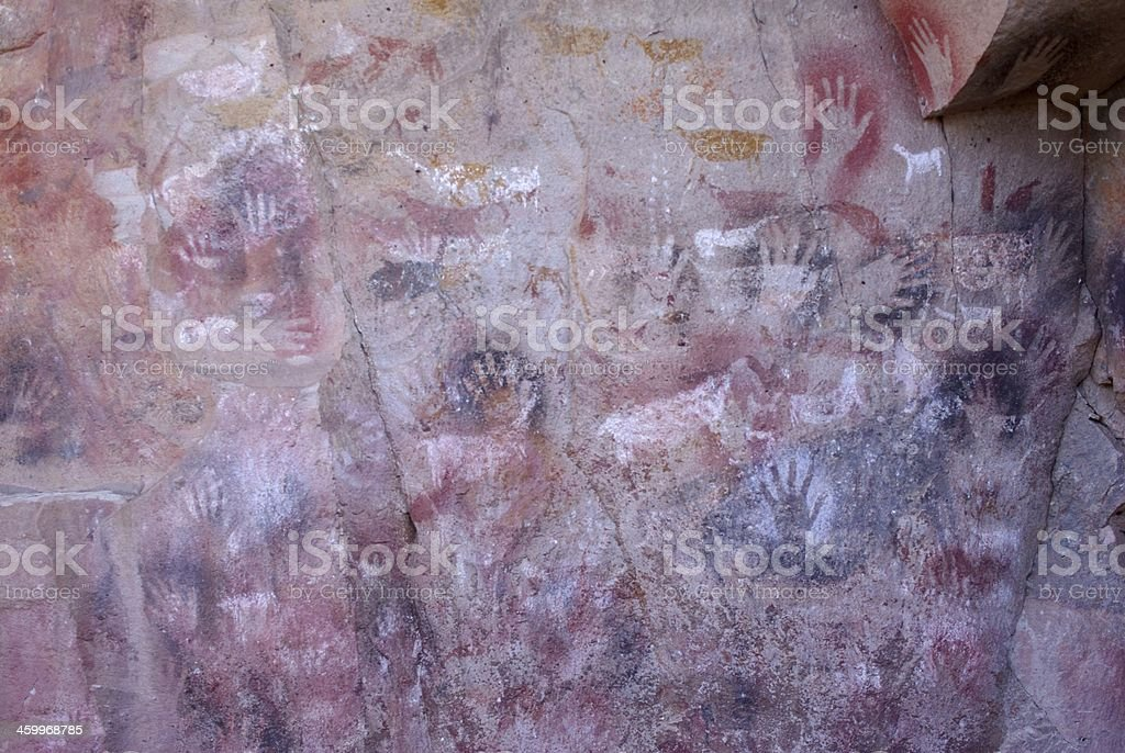 Rock paintings in Patagonia royalty-free stock photo