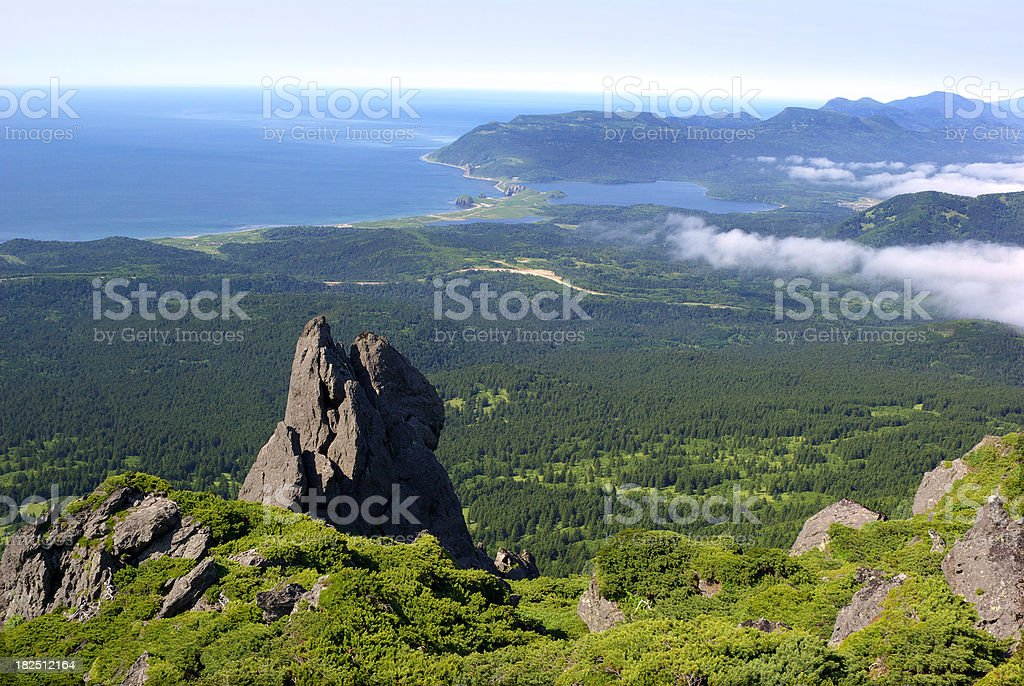 Rock panorama stock photo