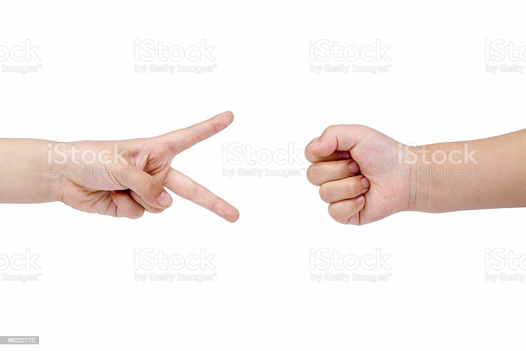 Rock Paper Scissors game royalty-free stock photo