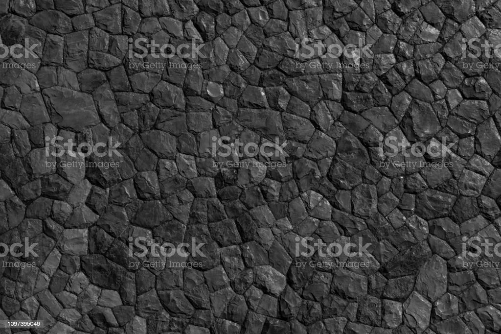 Rock pattern gray color and Mos plant of modern style design...
