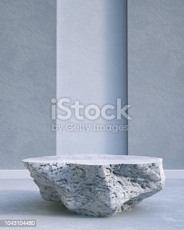 Pedestal, Wall - Building Feature, Empty, Stone
