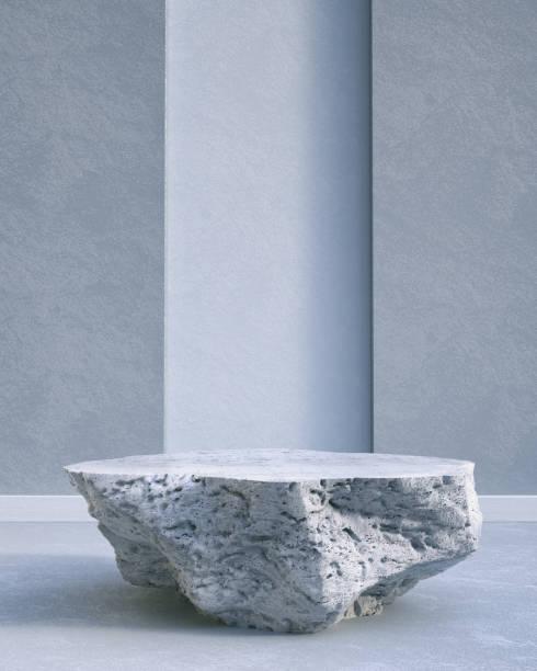 rock pedestal - piedistallo foto e immagini stock