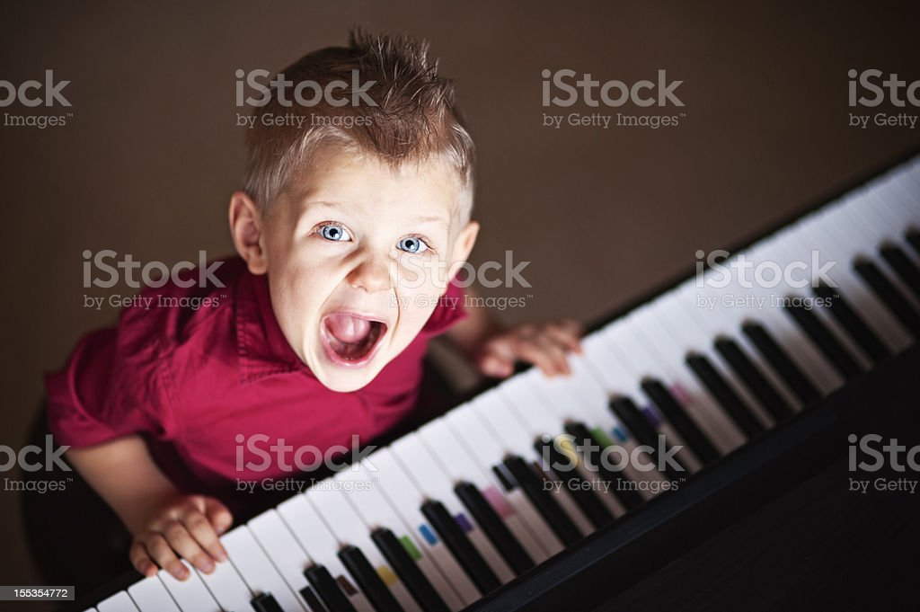 Rock pianist royalty-free stock photo