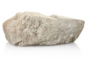 rock isolated on white, clipping path included XL