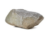 A big rock on a white background
