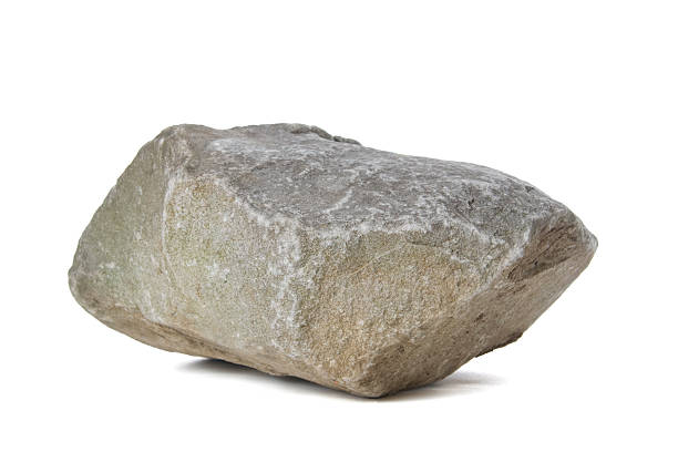 Rock A big rock on a white background rock object stock pictures, royalty-free photos & images