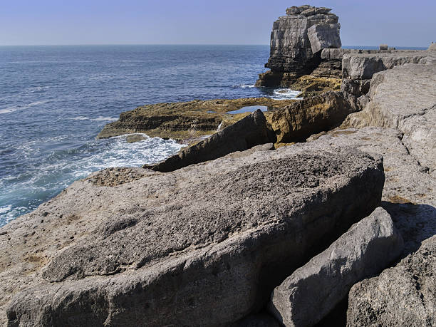 rock - pulpit rock dorset stock photos and pictures