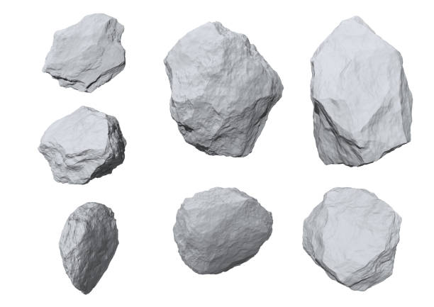 rock rocks set isolated on white background. rock object stock pictures, royalty-free photos & images