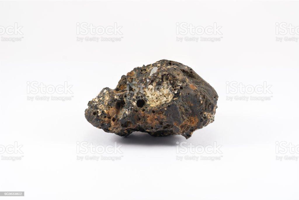 Rock (white background) stock photo