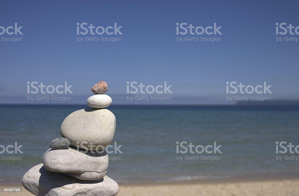 Rock Pile in Sleeping Bear Dunes - Michigan royalty-free stock photo